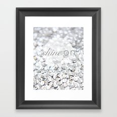 Shine ON Typography Print Framed Art Print