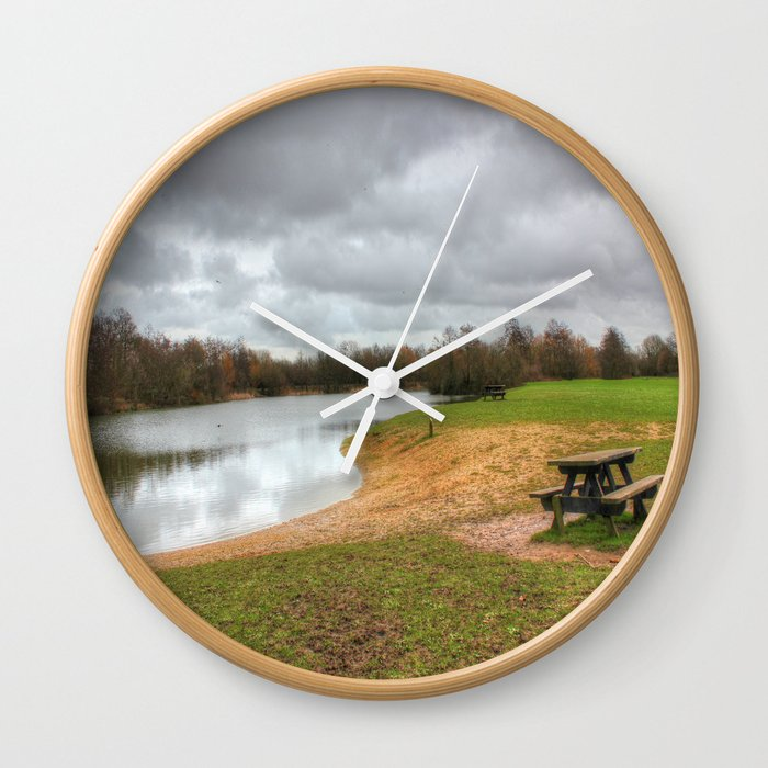Let's Sit By The Lake Wall Clock