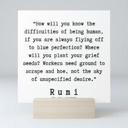 110  | Rumi Quotes | 190221 Mini Art Print