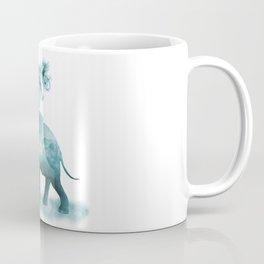 Turquoise Smoky Clouded Elephant Coffee Mug