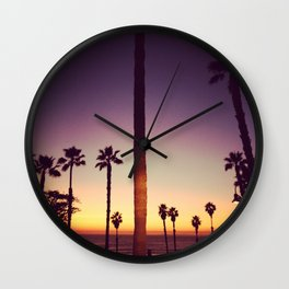 Warm Sunset in San Clemente Wall Clock