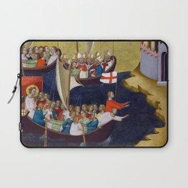 Bernardo Daddi Arrival of Saint Ursula at Cologne Laptop Sleeve