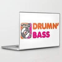 bass Laptop & iPad Skins featuring Drumn' Bass  by Jonah Makes Artstuff