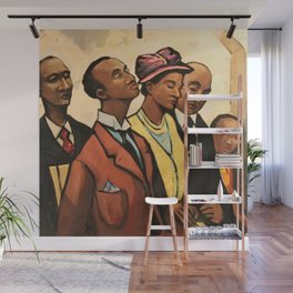 African American Portrait 'Churchgoers' by J. Andre Smith Wall Mural