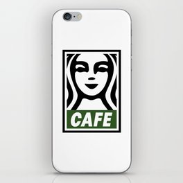 Cafe Poster iPhone Skin