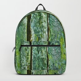 Weathered Green Fence rustic decor Backpack