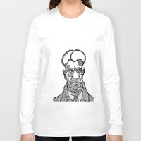 ed sheeran Long Sleeve T-shirts featuring Ed Gein by Yellowdemotape