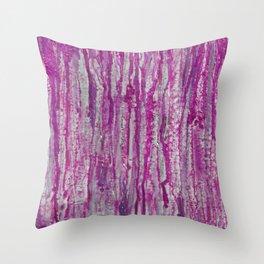 Encaustic Streaks (pink) Throw Pillow