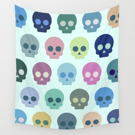 Colorful Skull Cute Pattern Wall Tapestry