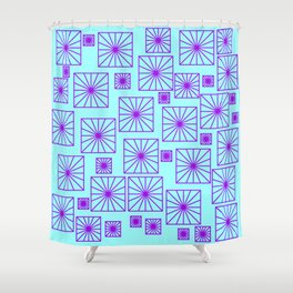 SKYBLUE SQUARE Shower Curtain