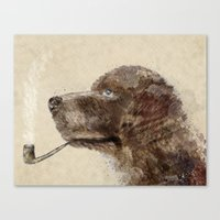 labrador Canvas Prints featuring hello labrador by bri.buckley
