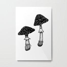 Amanita Muscaria Metal Print