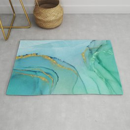 Abstract alcohol ink painting - Aprilette Rug