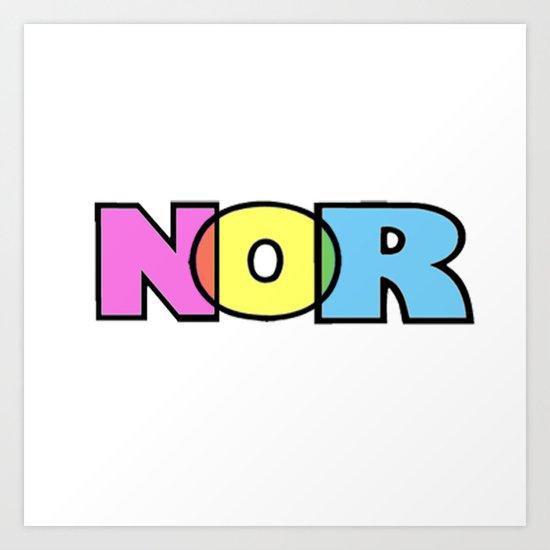 nor Art Print