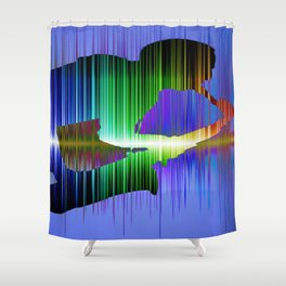 The saxophone player 02 Shower Curtain