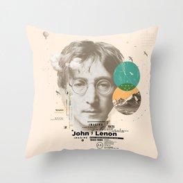 john lenon-imagine Throw Pillow