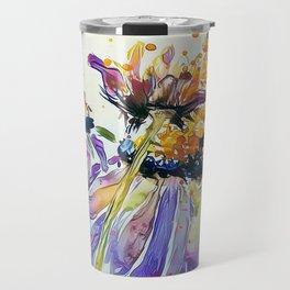Poppin Purple Echinacea watercolor by CheyAnne Sexton Travel Mug