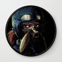 nausicaa Wall Clocks featuring Nausicaa of the Valley of the Wind by Barrett Biggers