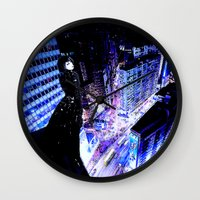 vertigo Wall Clocks featuring Vertigo by Danielle Tanimura