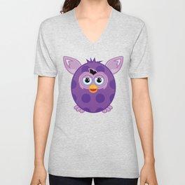 Purple Furby Unisex V-Neck