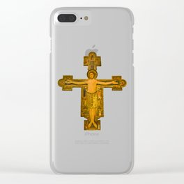 Medieval Style Jesus Christ on Cross Clear iPhone Case