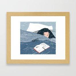 Weekend Blues Framed Art Print