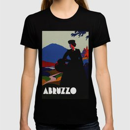 Vintage Abruzzo Italy Travel Poster T-shirt