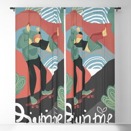 Summer skateboarding Blackout Curtain