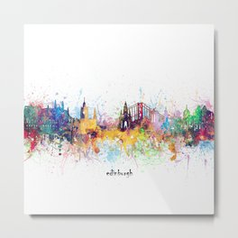 edinburgh skyline artistic Metal Print