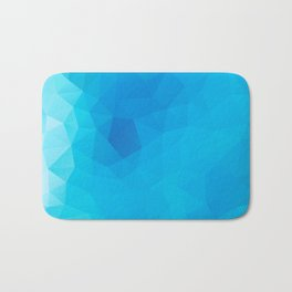 """Out of the blue"" geometric design Bath Mat"