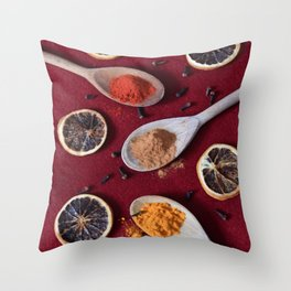 All Spices Throw Pillow
