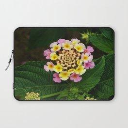 Fresh Lantana Flower Against Leaf Background Laptop Sleeve