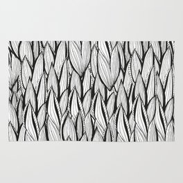 Abstract Leaves Rug