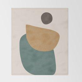Abstract Minimal Shapes III Throw Blanket