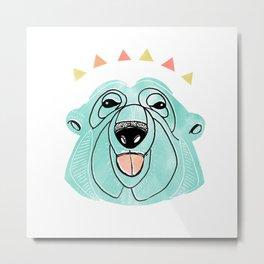 Polar bears don't care. Metal Print