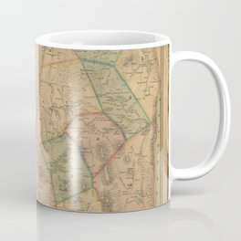 Henry F Walling - Map of the Town of Wrentham, Norfolk County, Massachusetts (1851) Coffee Mug