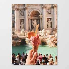 Gelato by the Trevi Canvas Print