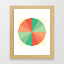 The Coral-Mint Wheel Framed Art Print