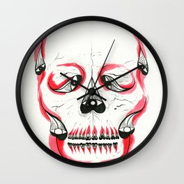 Desert Pea Skull - Soul Discovery Wall Clock