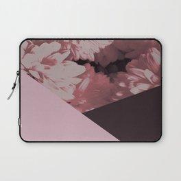 Pink mums geometrical collage Laptop Sleeve