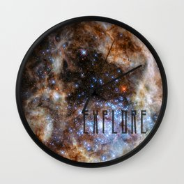 Explore - Space and the Universe Wall Clock