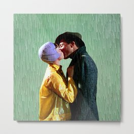 Singin' in the Rain - Green Metal Print