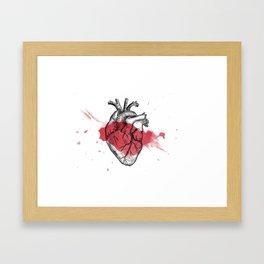 Anatomical heart - Art is Heart  Framed Art Print