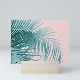 Palm Leaves Blush Summer Vibes #3 #tropical #decor #art #society6 Mini Art Print