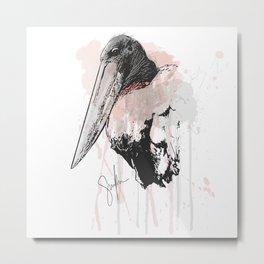 Jabiru Stork Metal Print