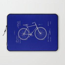 Vintage Bicycle Patent Blueprint Laptop Sleeve