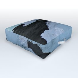 Diamonds in the Black Sand Outdoor Floor Cushion