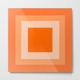 Orange Square Design Metal Print