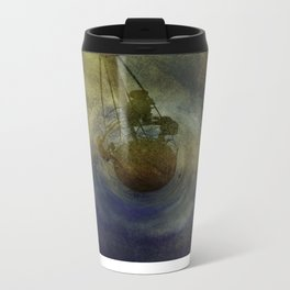 Where Are We Now - created on iPad Metal Travel Mug