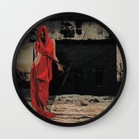 welcome Wall Clocks featuring Welcome by Galen Valle